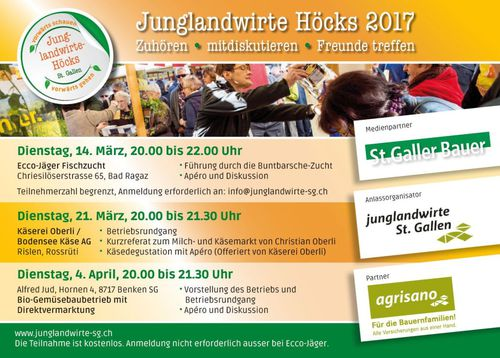Flyer Junglandwirte Höcks 2017